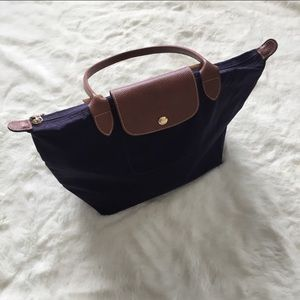 •MAKE OFFER Longchamp purple Le pledge tot